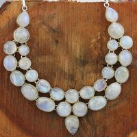 Hot women sale rainbow moonstone 925 sterling silver necklace designer wholesale jewelry gemstone necklace