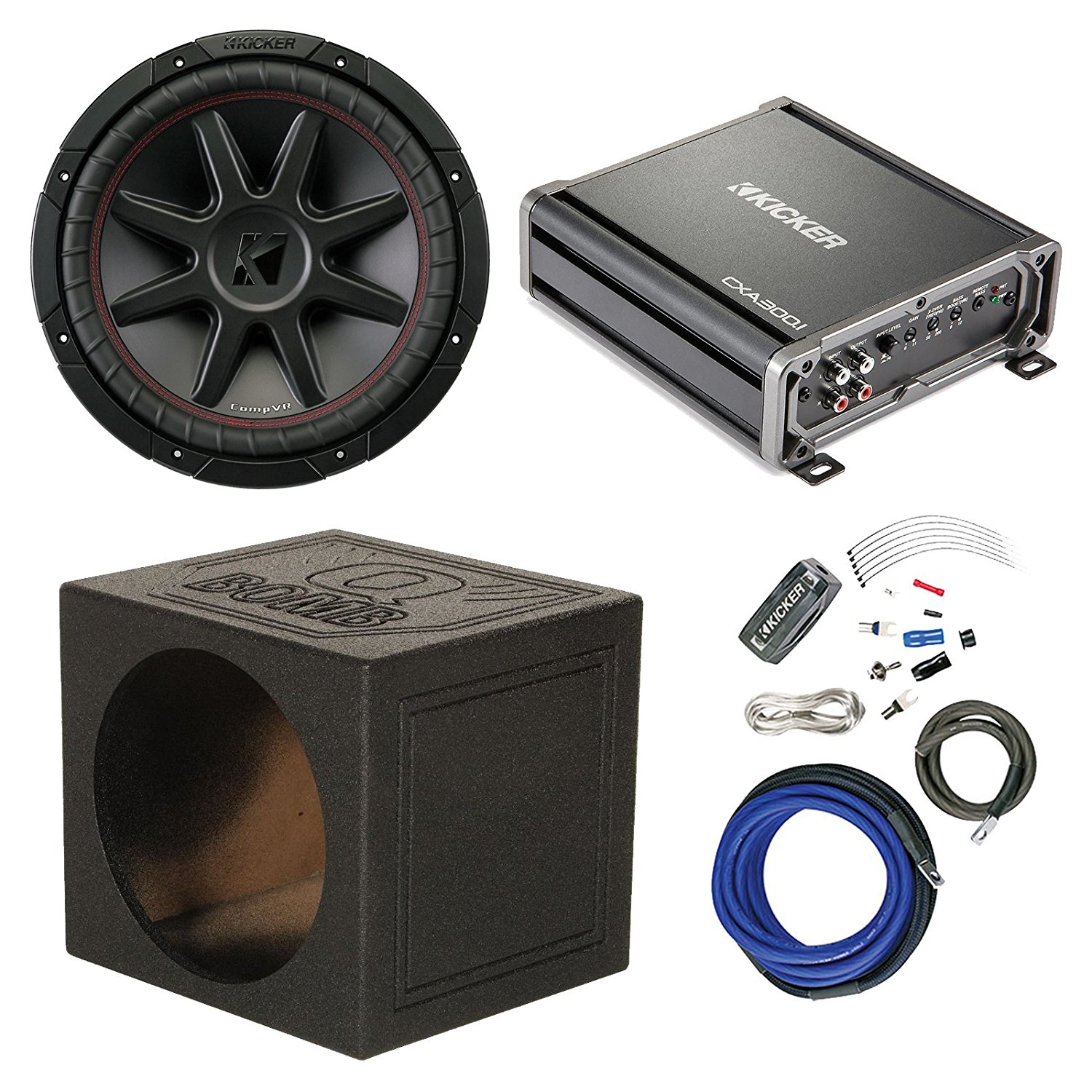 Cheap Car Subwoofer Wiring Kit Find Deals 8ga Professional Amplifier Kits Audio Get Quotations Kicker 12 800 Watt 4 Ohm Dvc With 600 Mono Class