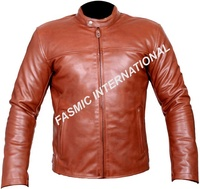 Real leather motorbike jackets for men