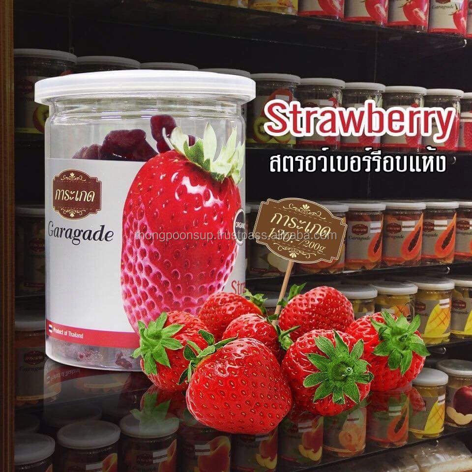 100% Natural & Premium Dried Strawberry Thailand