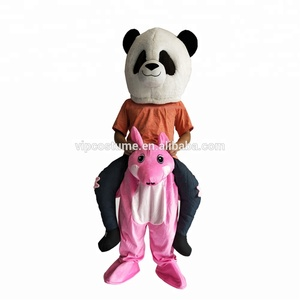 Pink Pig Christmas halloween costumes Snowman Reindeer Santa Horse Mascot Ride on Costume Adult