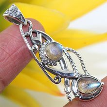 High trending 925 sterling silver locket labradorite gemstone pendant jewelry wholesale supplier silver pendant