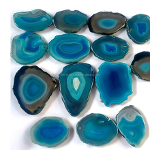 Polished natural green and blue agate stone slices wholesale