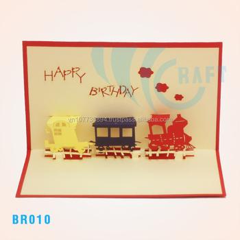Birthday Train Popup 3d Card Handmade Vietnam Buy Vietnam Handmade