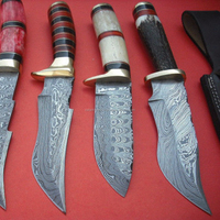 Damascus Hunting Knife ( ZR233)