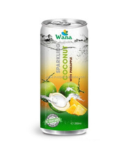 Frozen Coconut Water With Pineapple Flavor in 250ml Can