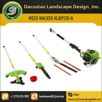 4 in 1 Pole Chainsaw,Hedge Trimmer,Grass Edger,Weed Wacker 52CC 2 Cycle Gas