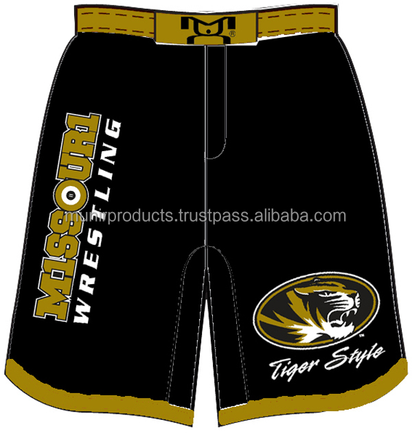 plain wholesale bjj gi mma shorts with belt