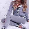 New ladies Casual Design stripe Jogging Wear Women Plain Sports Training Tracksuit