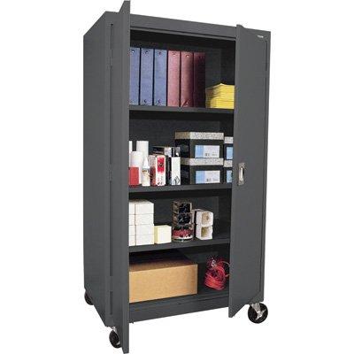 Sandusky Lee TA3R362460-02 Transport Series Mobile Storage Cabinet, Charcoal