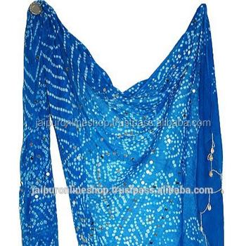 d2f08fc541 Women Scarf Pure Cotton Bandhani Printed Stole Indian Wrap Dress Dupatta