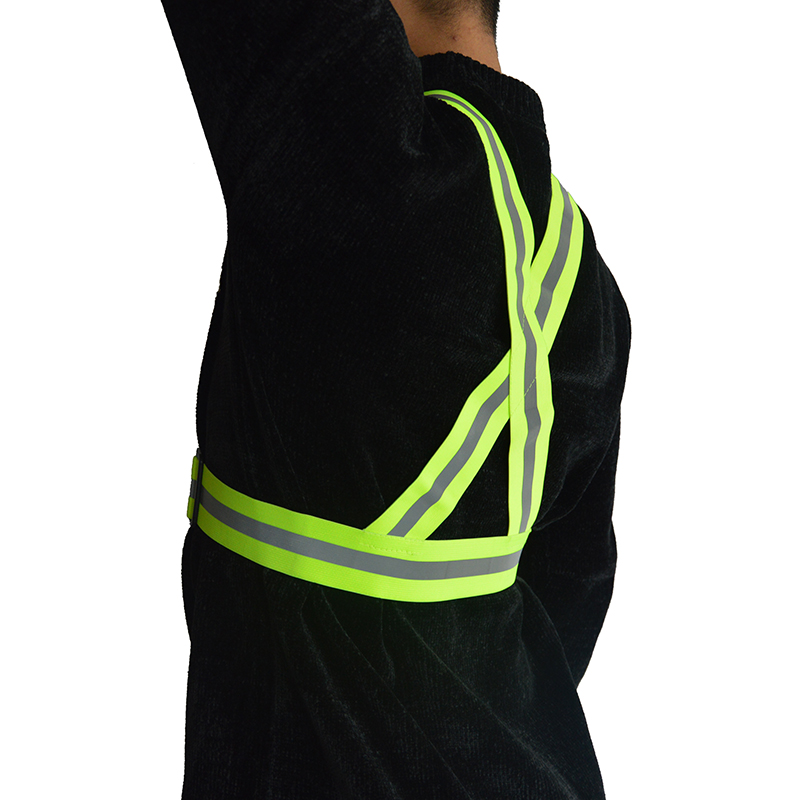 Factory Ajustable Elastic Night Safty Riding Cycling Reflective Running Vest Gear