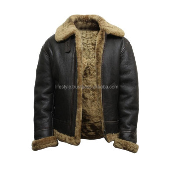 Collar Italian Leather And Fur Jacket Leather Jacket Fur Men Ladies