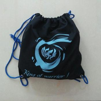 Promotional Calico Bags with Drawstring and custom logo