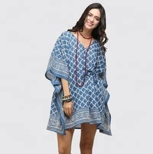 Indian Womens Casual Kaftan Hippie <span class=keywords><strong>Katoen</strong></span> Gedrukt Lange