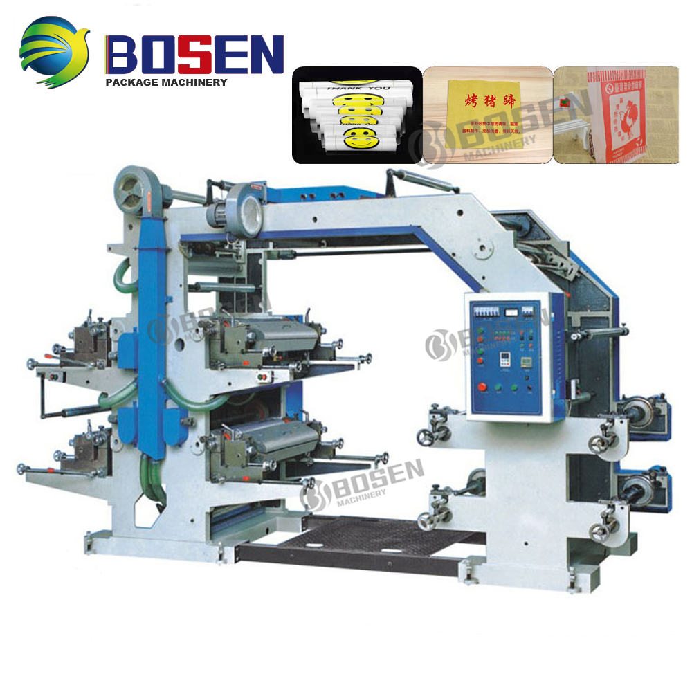 Automatic T Shirt Bag Laminated Bag Paper Flexo Printing Machine
