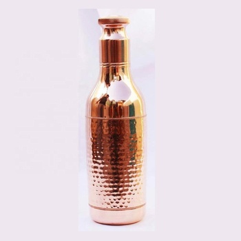 Copper water bottle polish finish