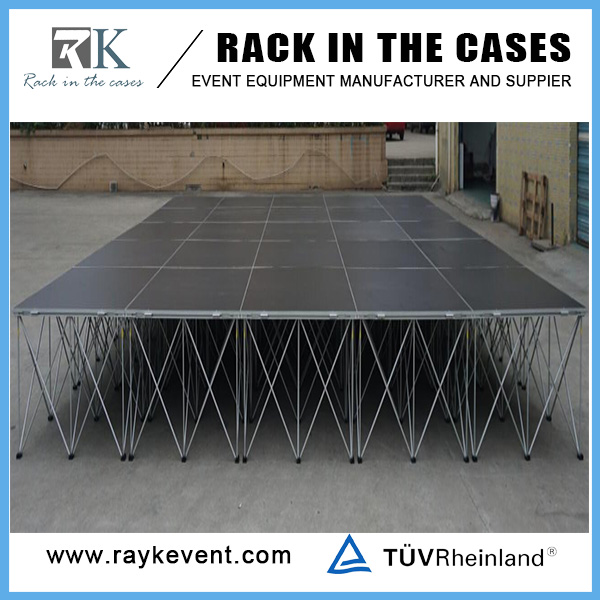 Fashion cat walk aluminum folding modular portable stage wooden stage portable portable mobile stage
