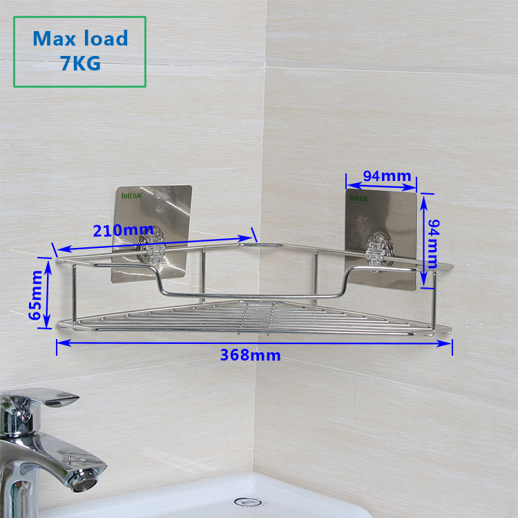 Marca nueva cesta de Esquina Jabón de ducha de acero inoxidable de plata con acabado en cromo