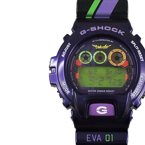 custom printed designed g shock evangelion watch with multi color