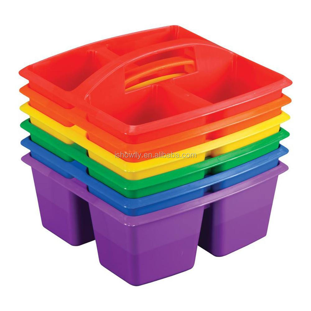 Custom 4 Compartment Plastic School Art Caddy Cheap Two-by-two ...