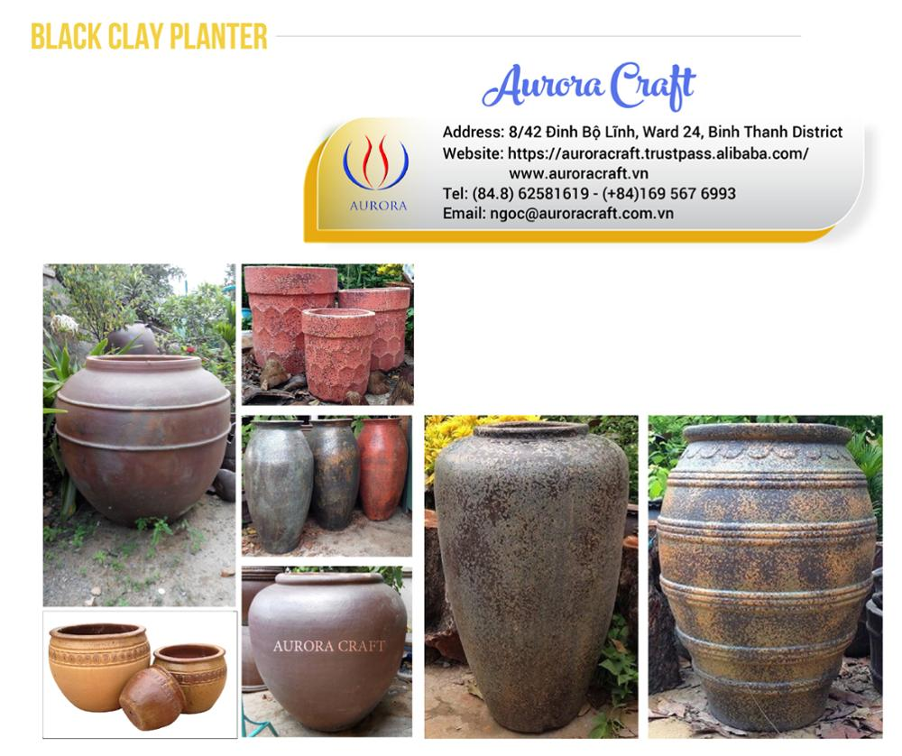 Handmade Outdoor Atlantic Pottery Pots/Planter