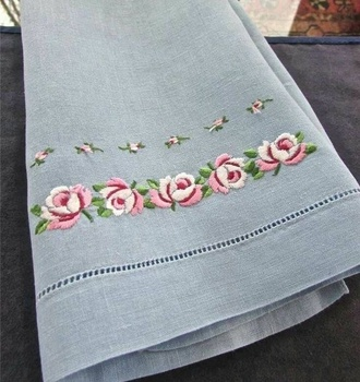 Hand Embroidery Linens White Bath Towel With 100 Linen Buy