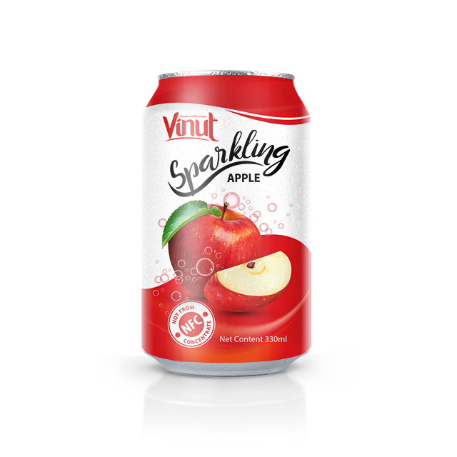 SPARKLING WATER Sparkling water brands Apple sparkling 330ml VINUT factory beverage
