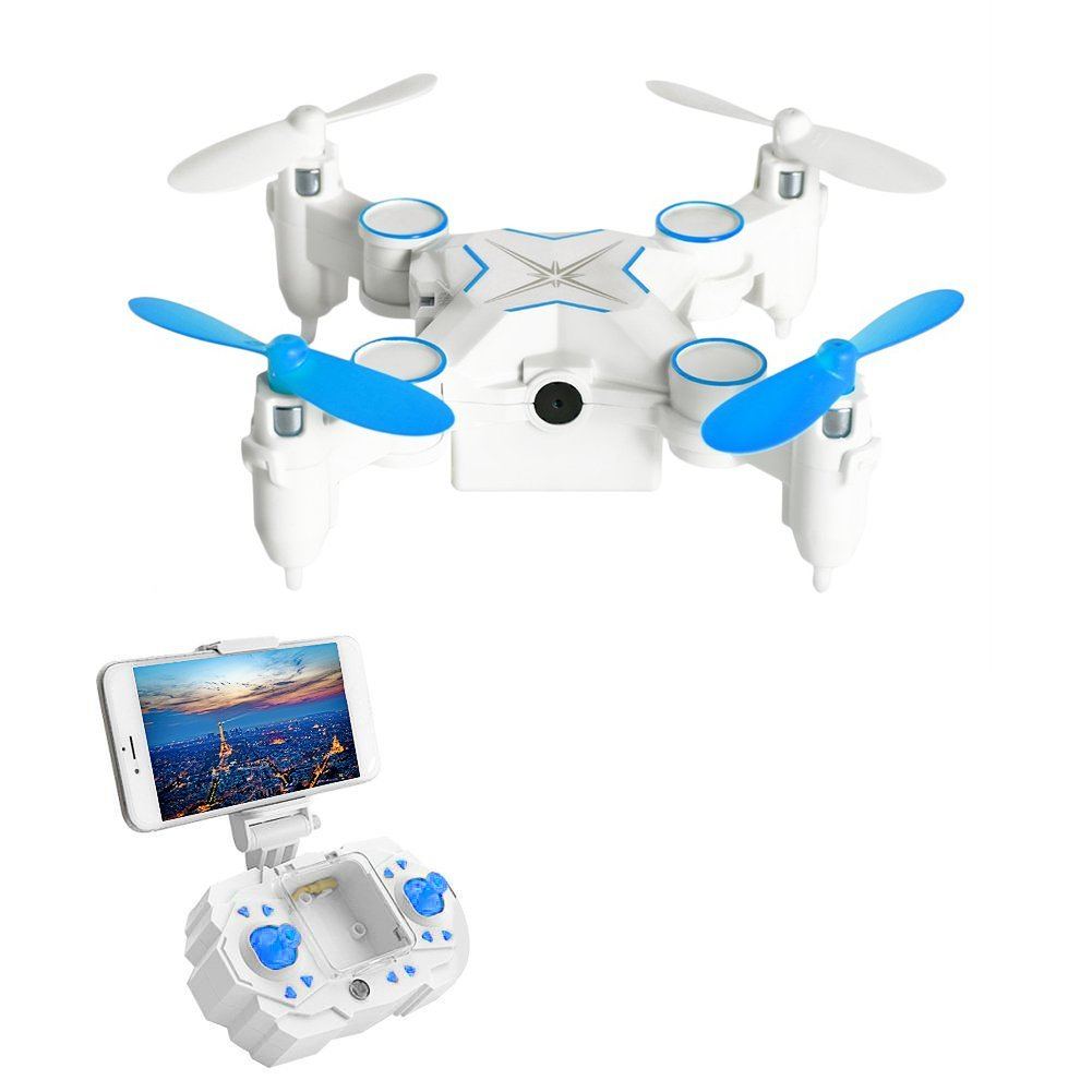 Mini RC Helicopter Drone LESHP RC Mini Drone RC Helicopter Toys Portable 6-AXIS RC Quadcopter FPV Foldable RC Mini Drone with WIFI 0.3MP Camera 2.4G 6-AXIS Transmitter Remote Controller
