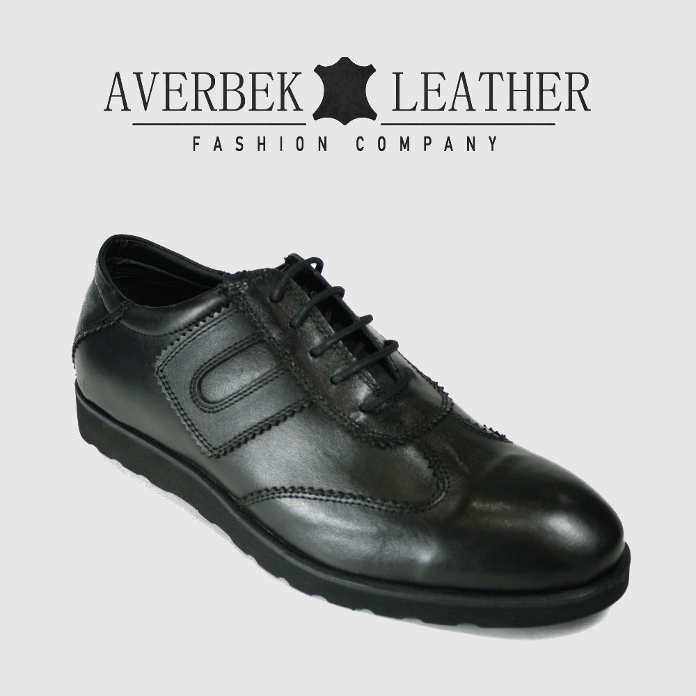 Casual Wholesale Design Shoes Black New Leather Genuine Men 2018 Shoes Turkey w17BUxUq