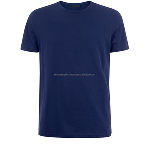 Custom Design Screen printing 100% navy blue Cotton T shirts OEM Manufacturer T shirts
