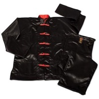 Long sleeve satin Kung Fu Uniform with dragon embroidery/ Kung Fu wear/ Kung Fu clothing