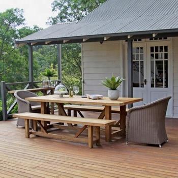 Mesa De Teca A Juego Con Bancos Comedor Indonesia Mesa Al Aire Libre  Asientos Muebles Al Por Mayor - Buy Muebles De Jardín,Muebles Al Aire ...