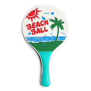 Eason Sports Beach Paddle Set with Wooden Racket Beachball Badminton Racquet Cricket Ball game and Family Training Kids Sports