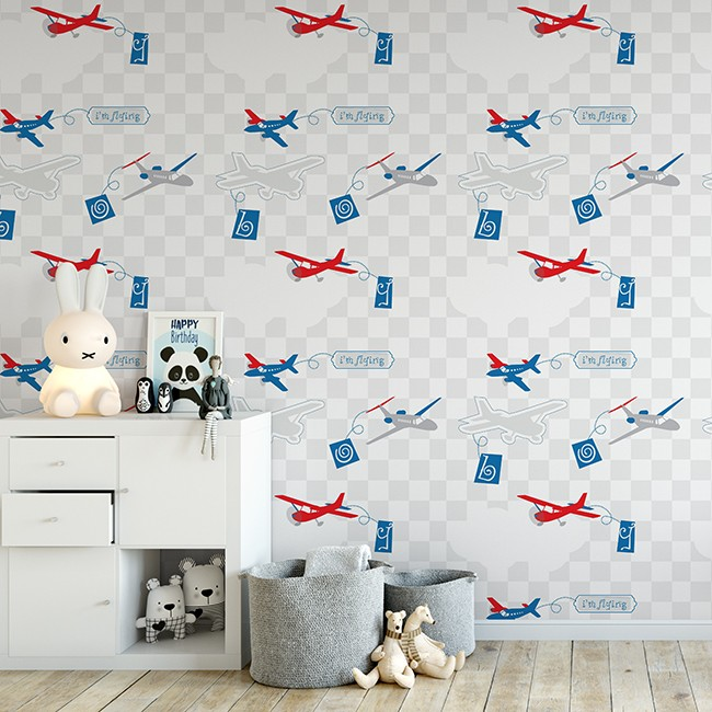 Kids Wallpaper Boy Room Wallpaper Airplane Pattern Healthy Wallpaper Buy Cheap Wallpaper Kids Bedroom Wallpaper Wallpaper For Childrens Room