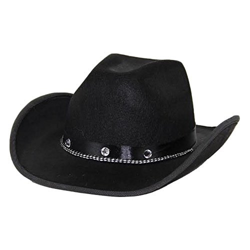b8e96fd3a83 Get Quotations · dazzling toys Kids Black Cowboy Hat One Size Fits Most