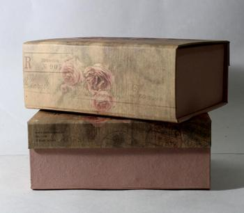 Luxury offset cotton printed handmade recycled wood free paper cardboard folding gift box
