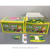 PALOMA CHEWING GUM WITH TATTOO - MIXED FRUIT & COLA & STRAWBERRY FLAVOURED 4 GRAM