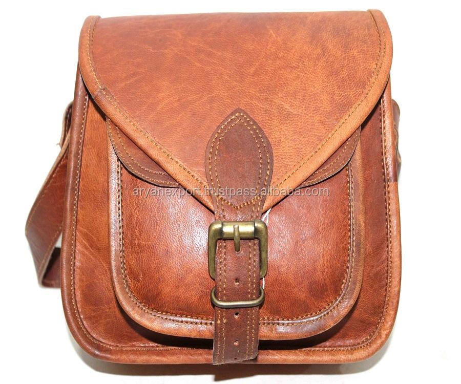 Aryan Exports Goat leather Messenger Bag For Men /& Women