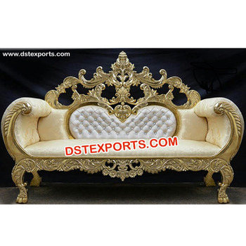 Designer Wedding Royal Carved Sofa Indian Wedding Furniture Maharaja
