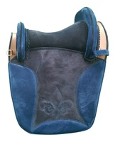 high quality suede leather spanish treeless horse riding saddle