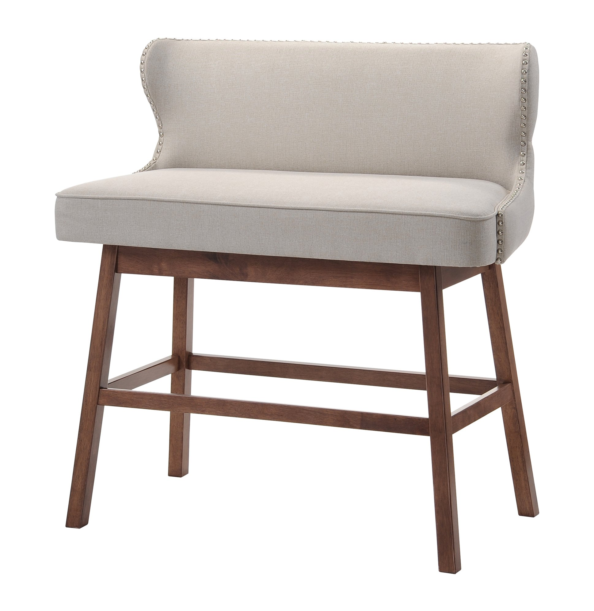Brilliant Buy Baxton Studio Hopton Modern Bench Beige In Cheap Price Gmtry Best Dining Table And Chair Ideas Images Gmtryco