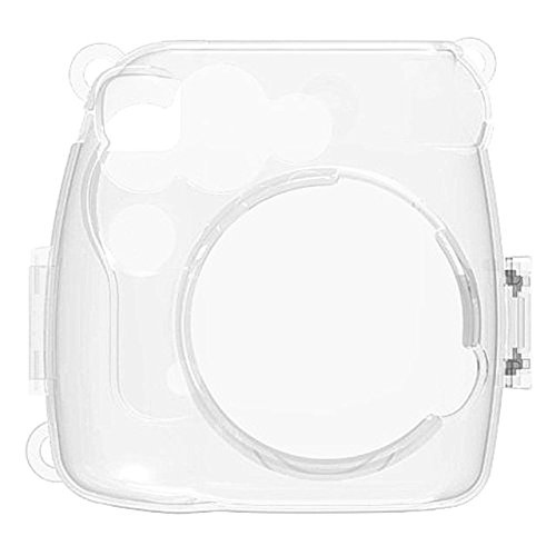 SODIAL(R) For fujifilm instax mini 8 case cover Pu the leader camera to protect Case Cover Hard Case Camera Shoulder bag Insert Case(Transparent)