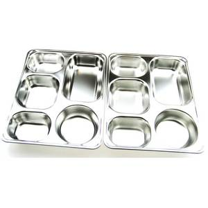 School Mess Stainless Steel Divided Dinner Lunch Plates Box, Indian Thali Plates, Dinner Plate