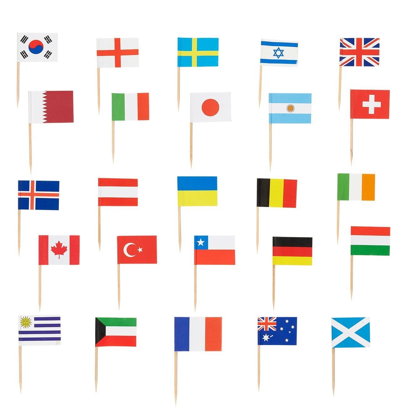275cdb16d7f Get Quotations · 200 Count International Flag Picks - Party Cocktail  Toothpicks for Food