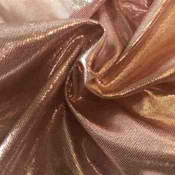 Gold copper slipper foil brocade lame fabric for apparel