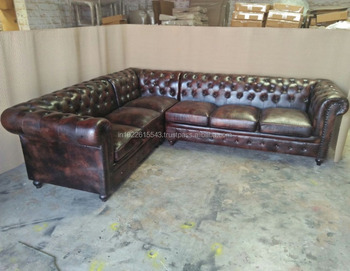 free shipping 04654 59ba4 Genuine Leather Chesterfield Sectional Sofa - Buy Latest Sofa Design  Idea,Genuine Leather Chesterfield Sectional Sofa,Modern Design Fabric Wood  Frame ...