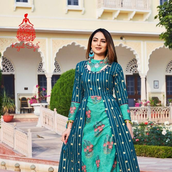 Kajal Mastani - 1 Rayon Gown - Maxi Dress - Floor Length Ready to Wear Kurti For Indian and Pakistani Women