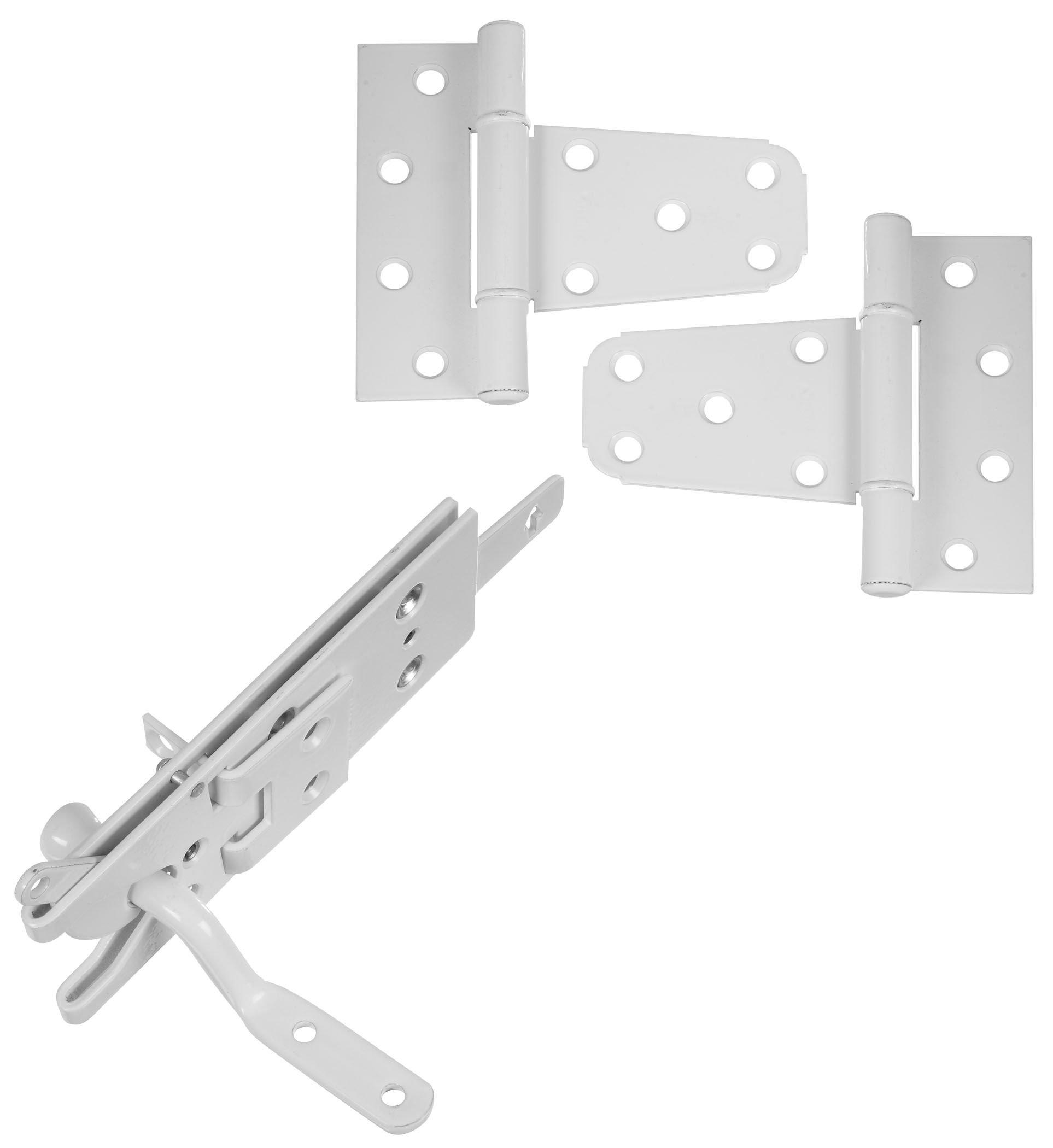 National Hardware N343-442 DPV876 Vinyl Fence Gate Kit in White powder coat