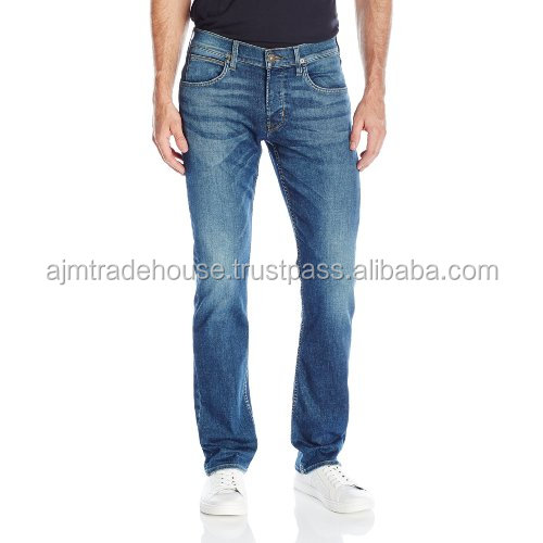 Distressed Denim Pant-new design 2017 multitude of looks closure custom skinny jeans rip distressed chino slim fit jeans men
